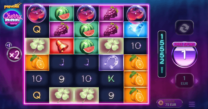 cherrypop slot screen