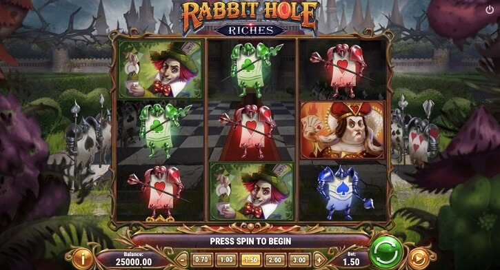 rabbit hole riches slot screen