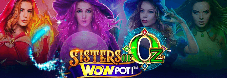 sisters of oz wowpot slot microgaming