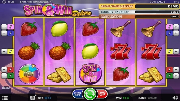 spin and win deluxe slot screen