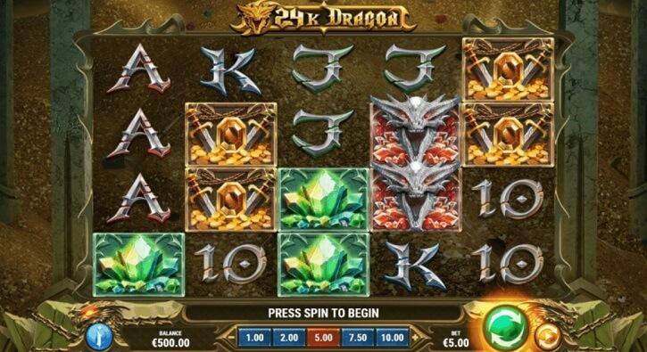 24k dragon slot screen
