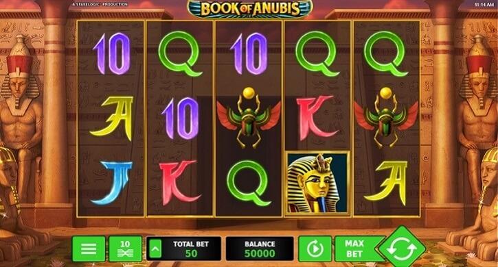 book of anubis slot screen