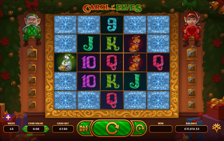 carol of the elves slot screen
