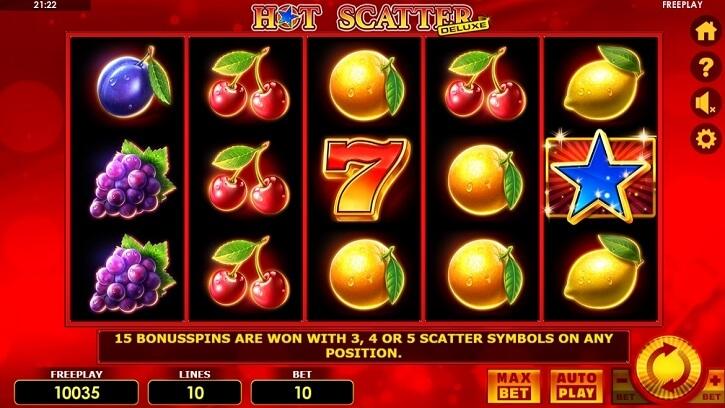 hot scatter deluxe slot screen