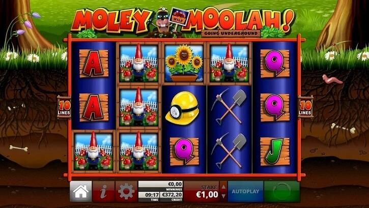 moley moolah slot screen