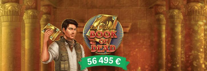 paf kasiino book of dead winner uudised