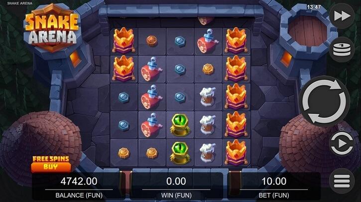 snake arena slot screen