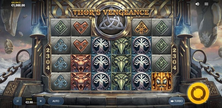 thors vengeance slot screen