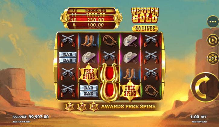 western gold megaways slot screen