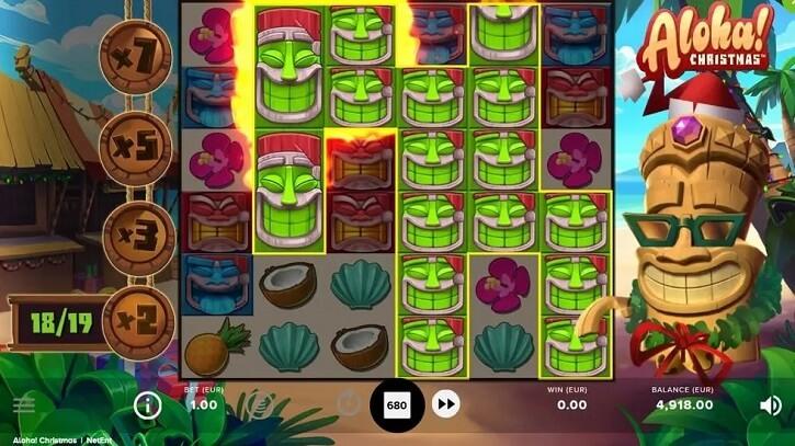 aloha christmas slot screen