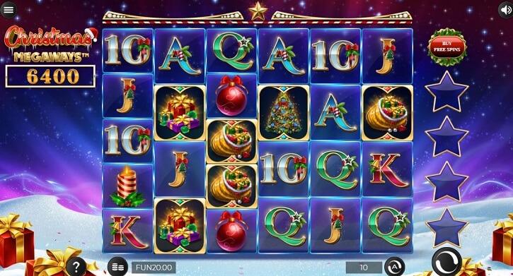 christmas megaways slot screen