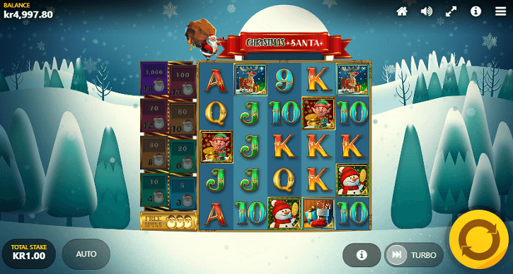 christmas santa slot screen