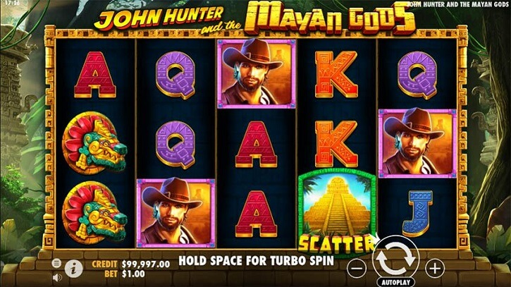 john hunter and the mayan gods slot screen