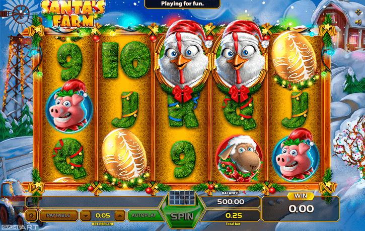 santas farm slot screen