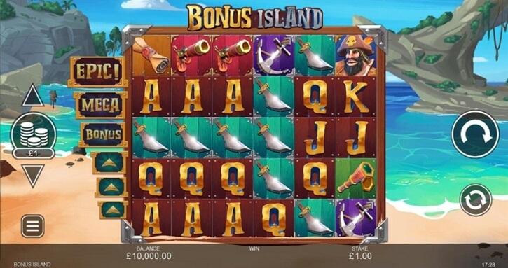 bonus island slot screen