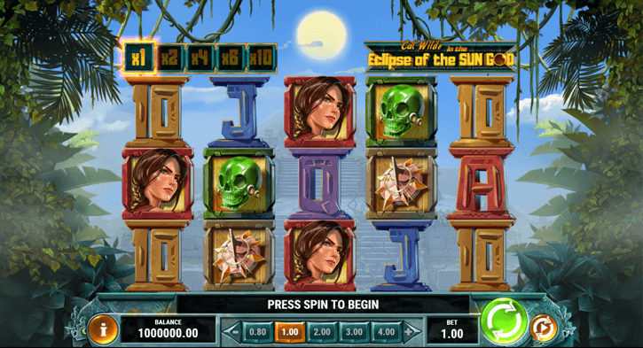 cat wilde in the eclipse of the sun god slot screen