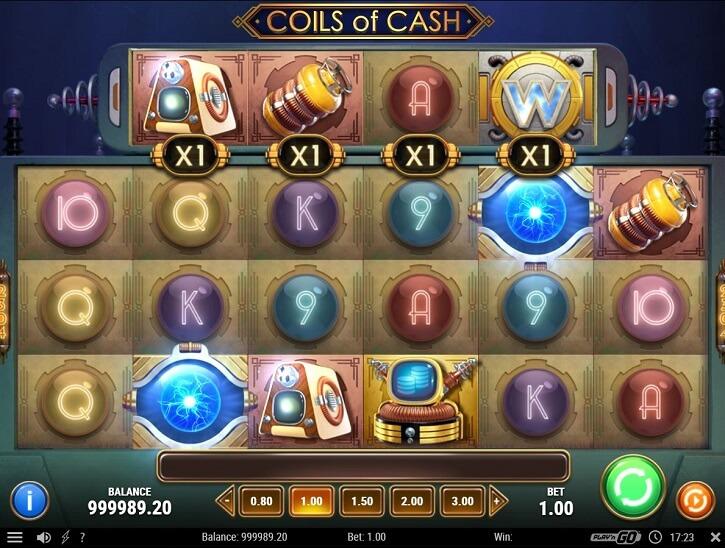 coils of cash slot screen