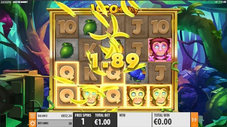 loco the monkey slot screen
