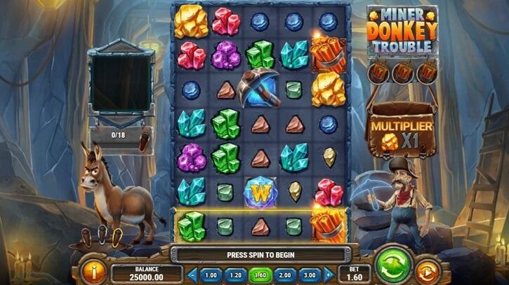 miner donkey trouble slot screen