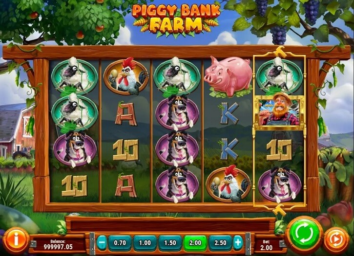 piggy bank farm slot screen