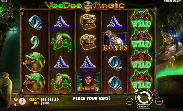 voodoo magic slot screen