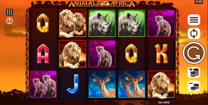 animals of africa slot screen