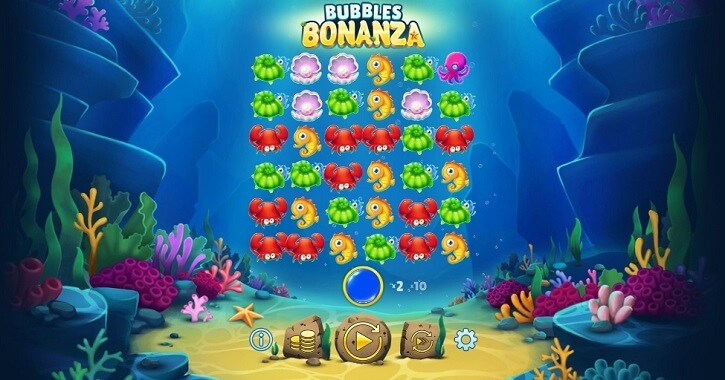 bubbles bonanza slot screen