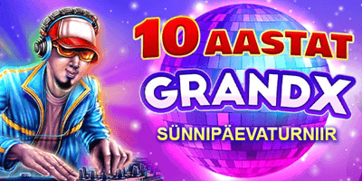 grandx kasiino 10 sunnipaeva turniir