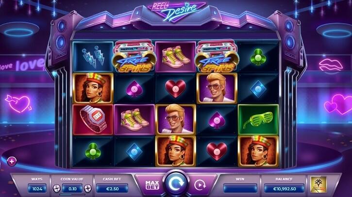reel desire slot screen