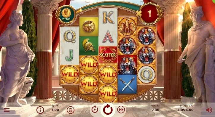 rome the golden age slot screen
