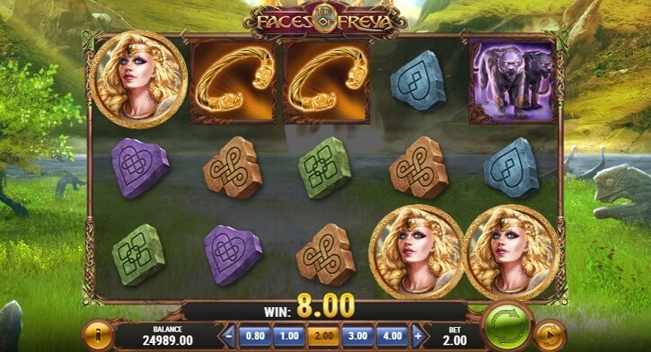 the faces of freya slot screen