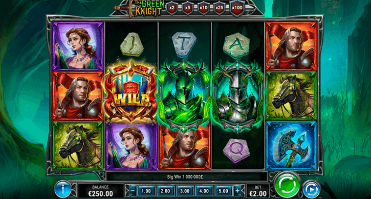the green knight slot screen