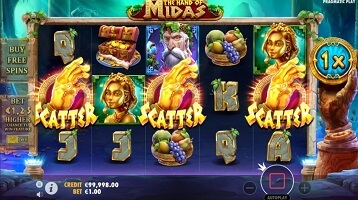 the hand of midas slot screen small