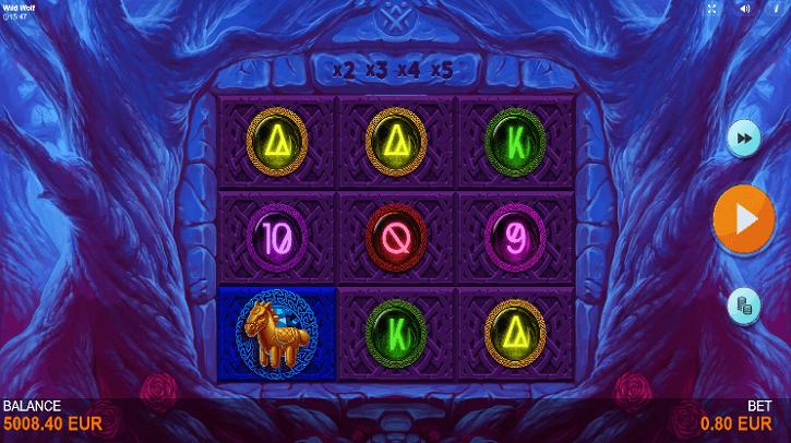 wild wolf slot screen