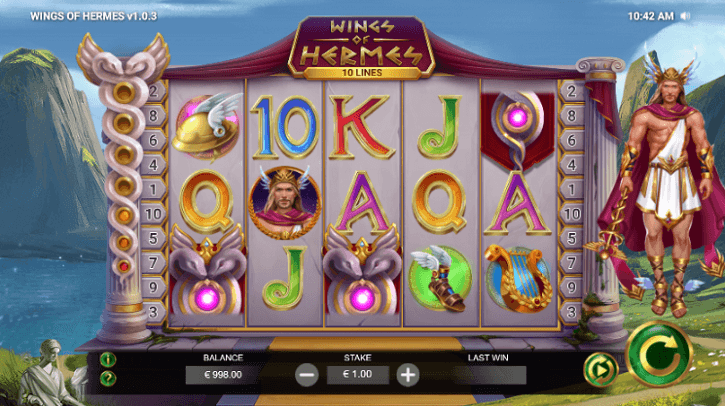 wings of hermes slot screen