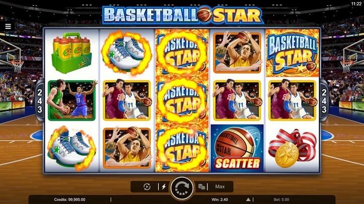 basketball star slot screen