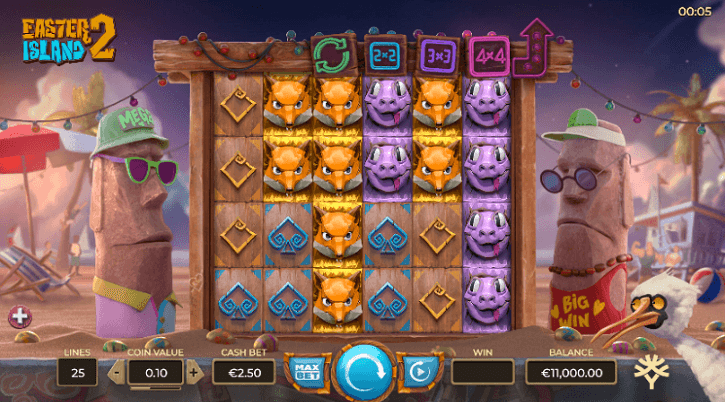 easter island 2 slot screen