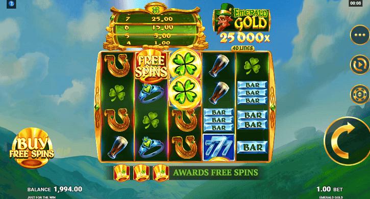 emerald gold slot screen