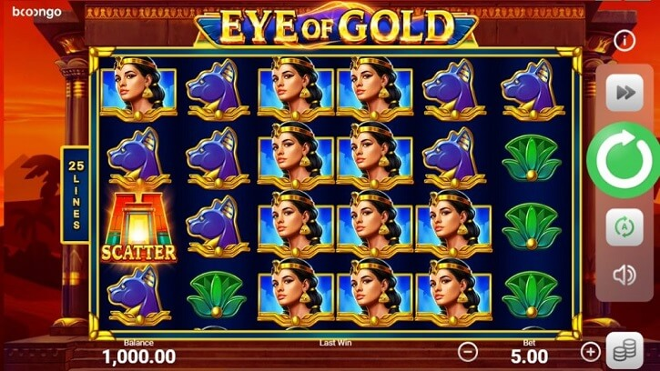 eye of gold slot screen
