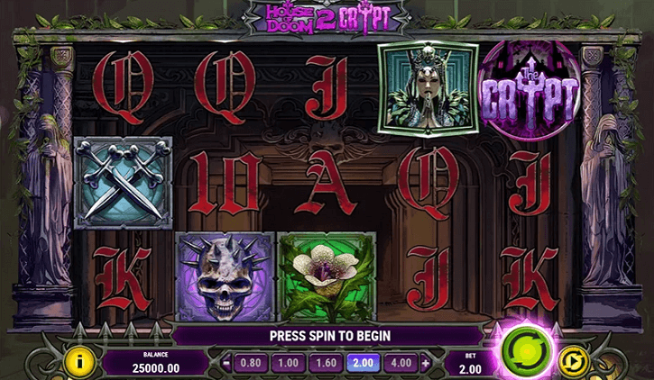 house of doom 2 the crypt slot screen