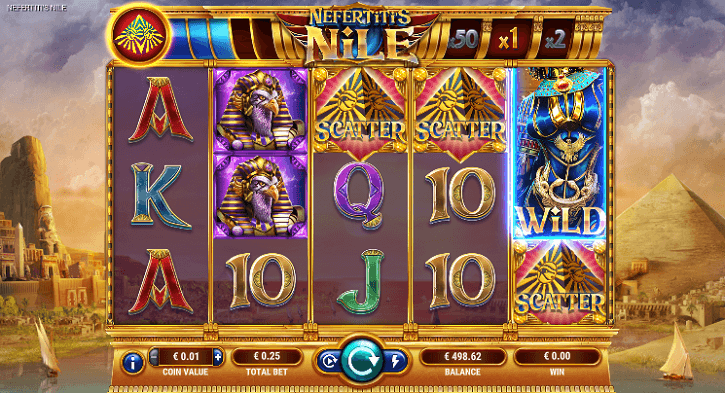 nefertitis nile slot screen