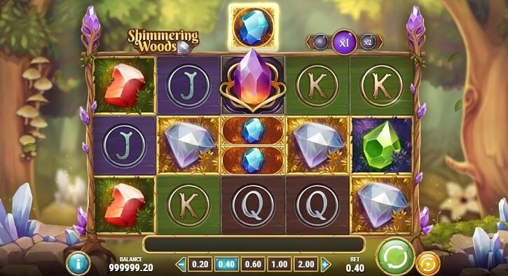 shimmering woods slot screen