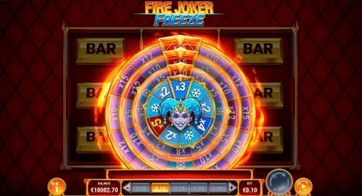fire joker freeze slot bonus wheel