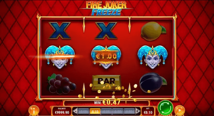 fire joker freeze slot screen