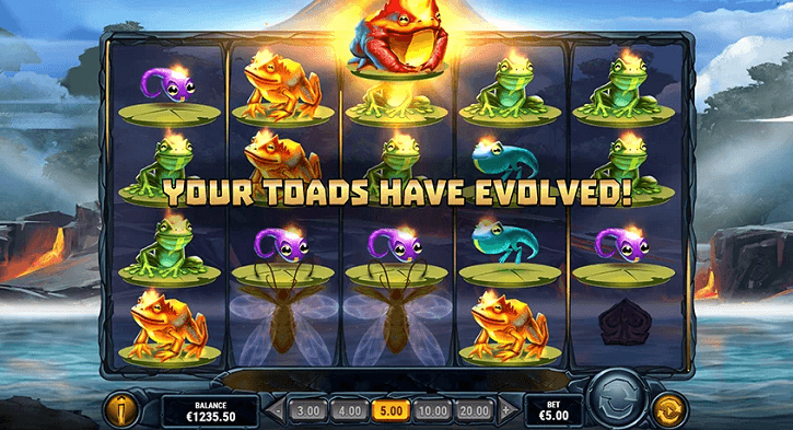fire toad slot screen