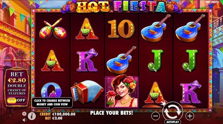 hot fiesta slot screen