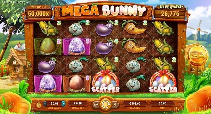 mega bunny hyperways slot screen