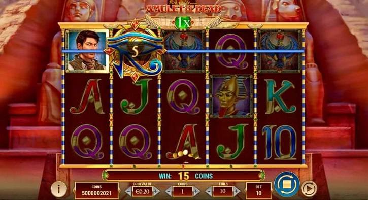 rich wilde and the amulet of dead slot screen