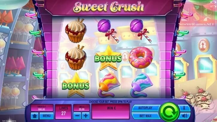 sweet crush slot screen