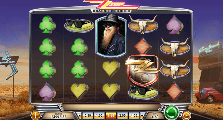zz top roadside riches slot screen